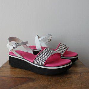 Skechers Pink Platform Sandals Size 9